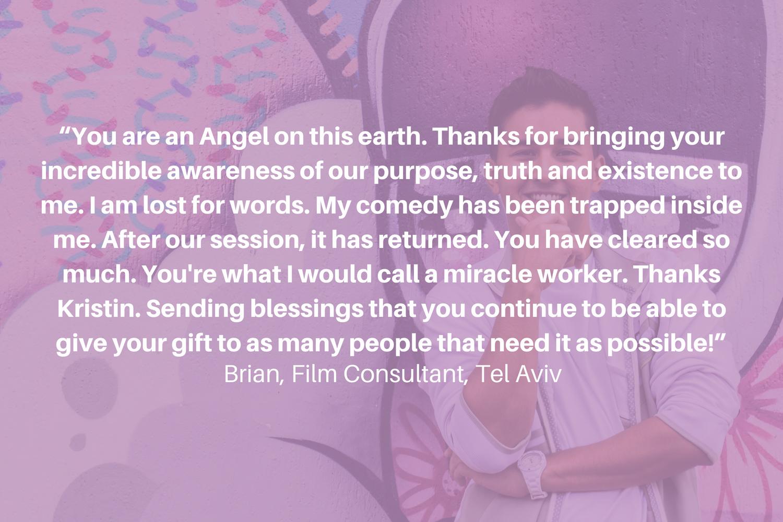 Brian testimonial healing Kristin Taylor
